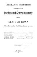 Legislative Documents Submitted to the ... General Assembly of the State of Iowa