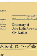 Dictionary of Afro Latin American Civilization