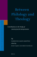 Between Philology and Theology: Contributions to the Study ...