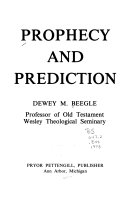 Prophecy and prediction