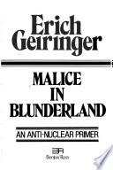 Malice in Blunderland