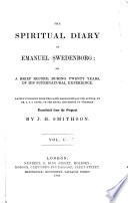 The Spiritual Diary of Emanual Swedenborg Book PDF