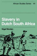 Slavery in Dutch South Africa