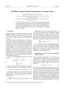 Schr¨odinger Equation and the Quantization of Celestial Systems