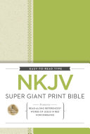 NKJV, Super Giant Print Reference Bible, Giant Print, Hardcover, Red Letter Edition