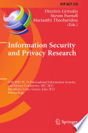 Information Security and Privacy Research  : 27th IFIP TC 11 Information Security and Privacy Conference, SEC 2012, Heraklion, Crete, Greece, June 4-6, 2012, Proceedings