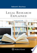 Legal Research Explained Book