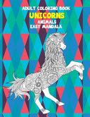 Adult Coloring Book Easy Mandala   Animals   Unicorns