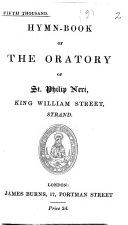 Hymn book of the Oratory of St  Philip Neri  King William Street  Strand   Fifth thousand