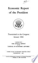 Economic Report of the President Transmitted to the Congress Book