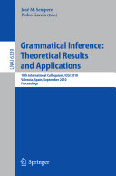 Grammatical Inference  Theoretical Results and Applications