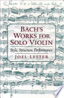 Read Online Bach's Works for Solo Violin For Free