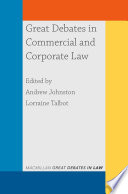 Great Debates in Commercial and Corporate Law Book