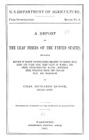 A Report on the Leaf Fibers of the United States
