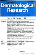 Archiv F  r Dermatologische Forschung