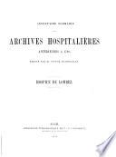 Inventaire sommaire des archives hospitalières antérieures à 1790. Hospice de Lombez