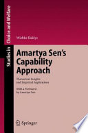 Amartya Sen S Capability Approach