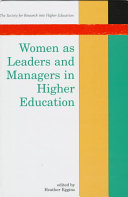 Women as Leaders and Managers in Higher Education