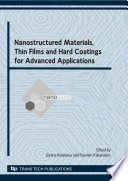 Nanostructured Materials  Thin Films And Hard Coatings For Advanced Applications
