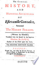 The Comical History, and Humorous Adventures of Estevanille Gonzalez