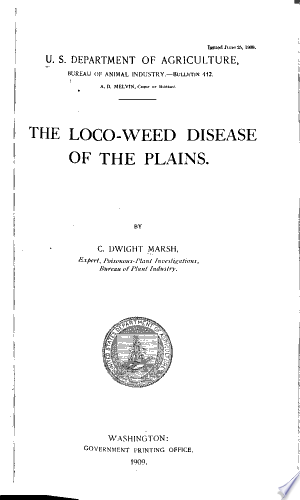 Read Online The Loco-weed Disease of the Plains Full Book