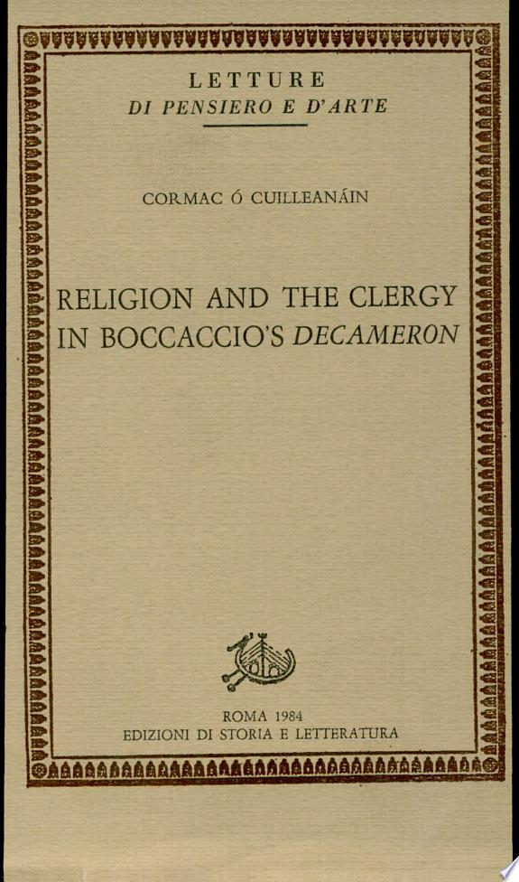 Religion and the clergy in Boccaccio's Decameron
