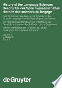 History Of The Language Sciences Geschichte Der Sprachwissenschaften Histoire Des Sciences Du Langage 3 Teilband