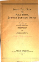 Survey Data Book for Public School Janitorial-engineering Service