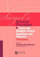 Siegel's Criminal Procedure