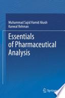 Essentials Of Pharmaceutical Analysis Book PDF