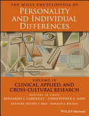 The Wiley Encyclopedia of Personality and Individual Differences Book
