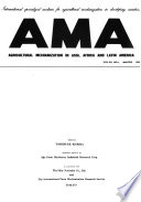 AMA, Agricultural Mechanization in Asia, Africa and Latin America