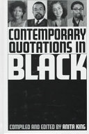 Contemporary Quotations in Black Book PDF