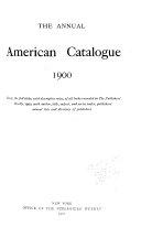 The Annual American Catalog 1900 1909
