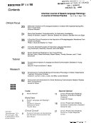 American Journal of Speech language Pathology