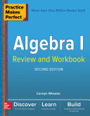 Practice Makes Perfect Algebra I Review and Workbook, Second Edition Pdf/ePub eBook
