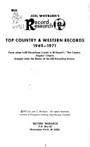 Top Country   Western Records  1949 1971