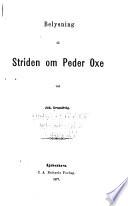 Belysning til striden om Peder Oxe