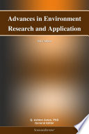 Advances in Environment Research and Application: 2012 Edition