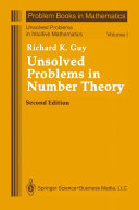 Pdf Unsolved Problems in Number Theory Telecharger