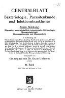 Zentralblatt für Bakteriologie, Parasitenkunde und Infektionskrankheiten