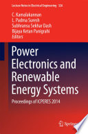 Power Electronics and Renewable Energy Systems Book