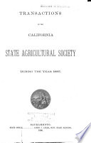 Transactions of the California State Agricultural Society Book