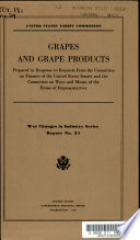 Grapes and Grape Products