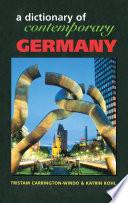 Dictionary Of Contemporary Germany Book PDF