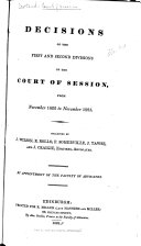 Decisions of the Court of Session  1822 1825  1826 1828