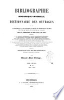 Bibliographie Biographique Universelle [Pdf/ePub] eBook