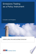 Book Cover: Emissions Trading Systems As a Policy Instrument
