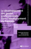 Le développement des gestes professionnels dans l'enseignement du français