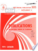 Publications of the National Bureau of Standards ... Catalog